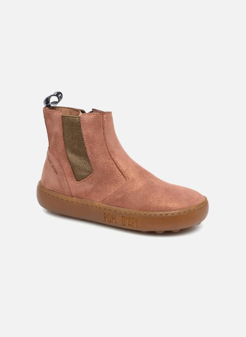 Bottines et boots Pom d Api Walk Jodpur Basic SZ Rose vue détail/paire