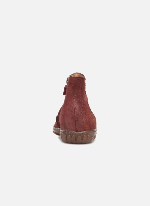 Ankle boots Pom d Api Cute Boots Rain Burgundy view from the right