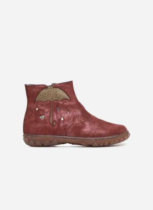 Ankle boots Pom d Api Cute Boots Rain Burgundy back view