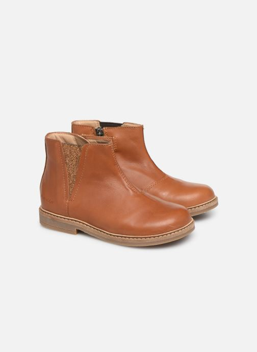 Ankle boots Pom d Api Retro Boots Brown 3/4 view