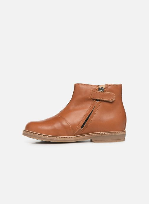 Ankle boots Pom d Api Retro Boots Brown front view