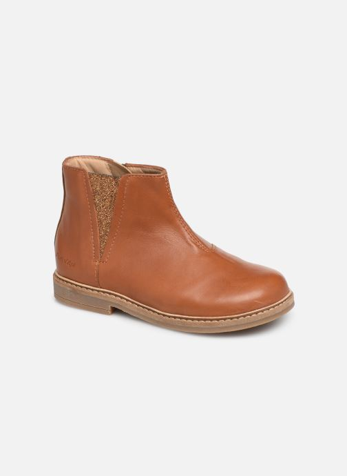 Ankle boots Pom d Api Retro Boots Brown detailed view/ Pair view