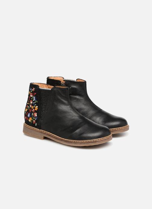 Bottines et boots Pom d Api Retro Brod Noir vue 3/4