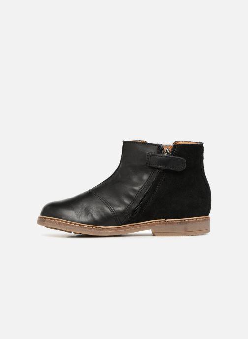 Bottines et boots Pom d Api Retro Brod Noir vue face