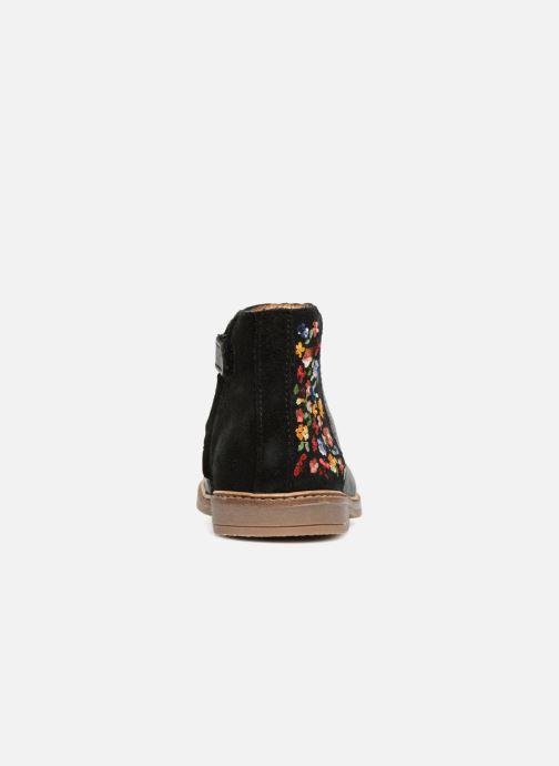 Bottines et boots Pom d Api Retro Brod Noir vue droite