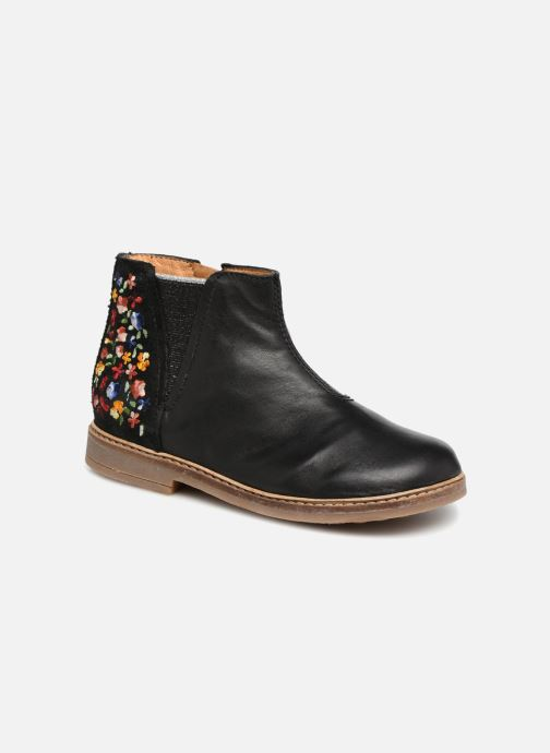Bottines et boots Pom d Api Retro Brod Noir vue détail/paire