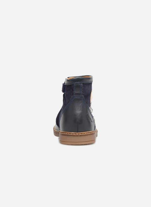 Ankle boots Pom d Api Retro Baloon Blue view from the right