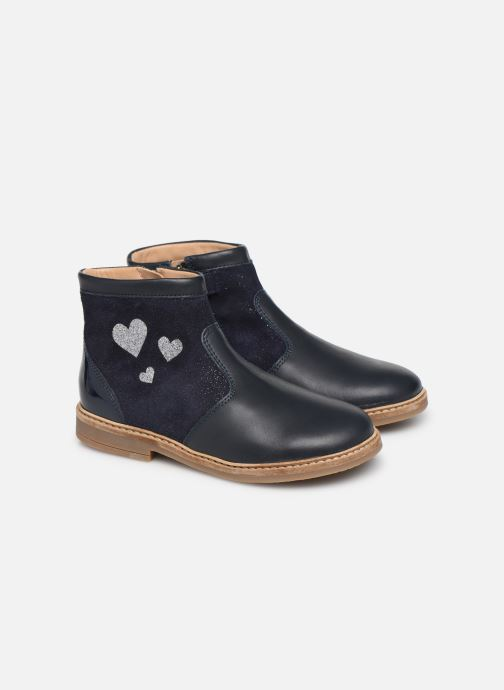 Bottines et boots Pom d Api Retro Fix Bleu vue 3/4