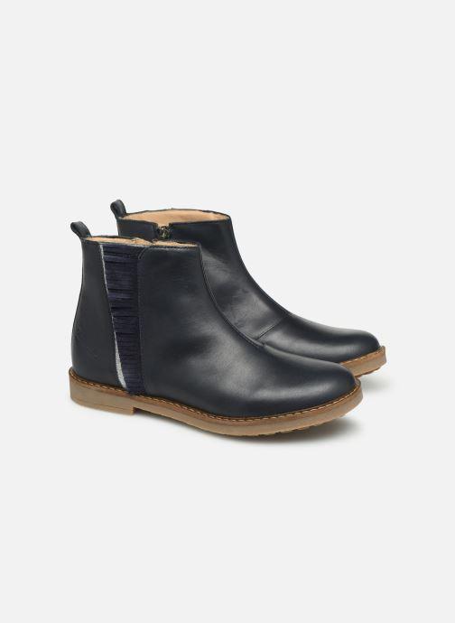 Bottines et boots Pom d Api Trip Fringe Bleu vue 3/4