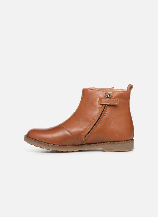 Boots en enkellaarsjes Pom d Api Trip Fringe Bruin voorkant
