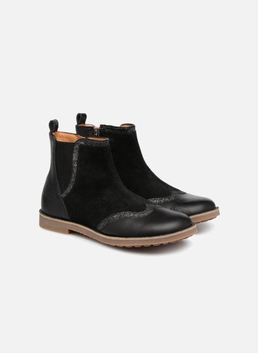 Bottines et boots Pom d Api New Trip Glitter Noir vue 3/4