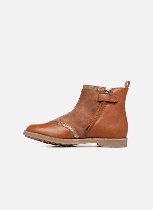 Boots en enkellaarsjes Pom d Api New Trip Glitter Bruin voorkant