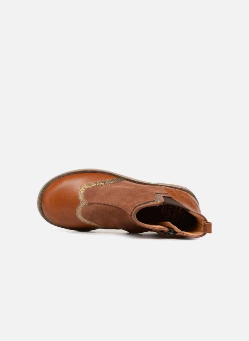 Boots en enkellaarsjes Pom d Api New Trip Glitter Bruin links