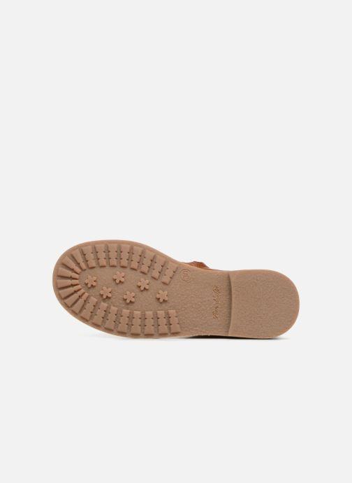 Boots en enkellaarsjes Pom d Api New Trip Glitter Bruin boven