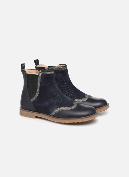 Ankle boots Pom d Api New Trip Glitter Blue 3/4 view