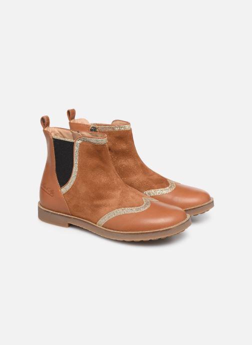 Boots en enkellaarsjes Pom d Api New Trip Glitter Bruin 3/4'
