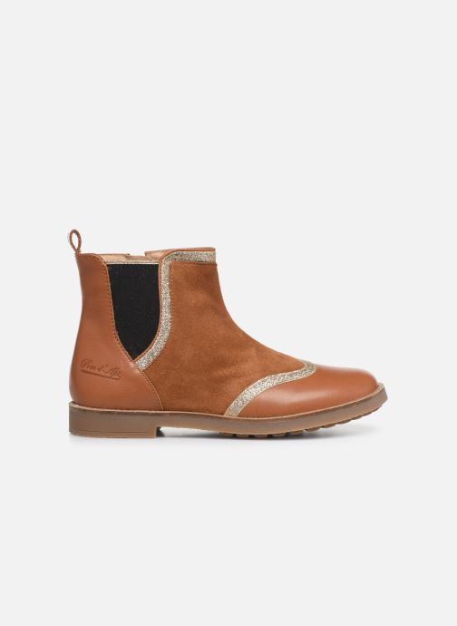 Boots en enkellaarsjes Pom d Api New Trip Glitter Bruin achterkant