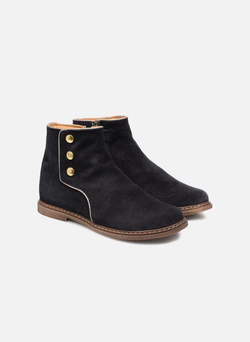 Bottines et boots Pom d Api City Guetre Bleu vue 3/4