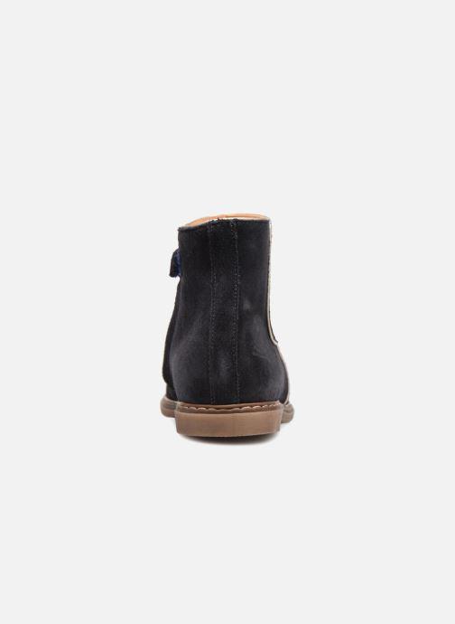 Bottines et boots Pom d Api City Guetre Bleu vue droite