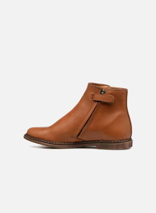 Bottines et boots Pom d Api City Guetre Marron vue face