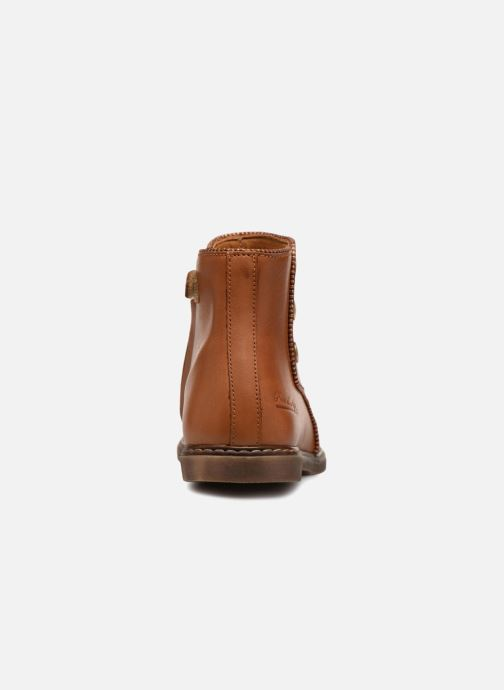 Bottines et boots Pom d Api City Guetre Marron vue droite