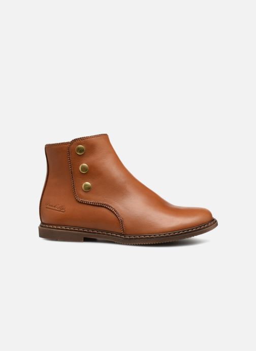 Boots en enkellaarsjes Pom d Api City Guetre Bruin achterkant