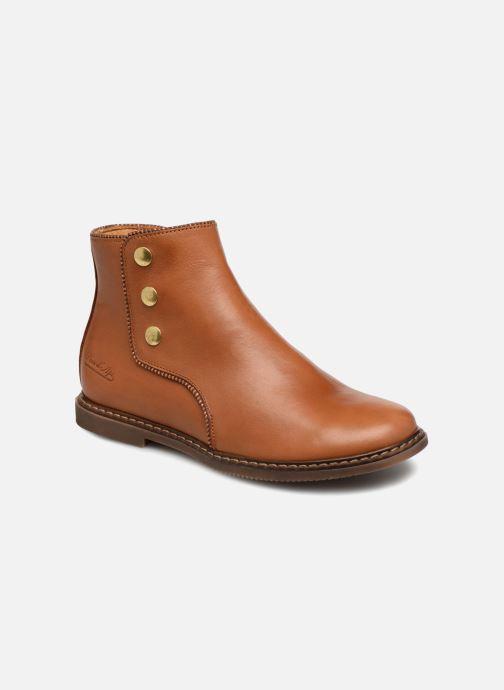 Bottines et boots Pom d Api City Guetre Marron vue détail/paire