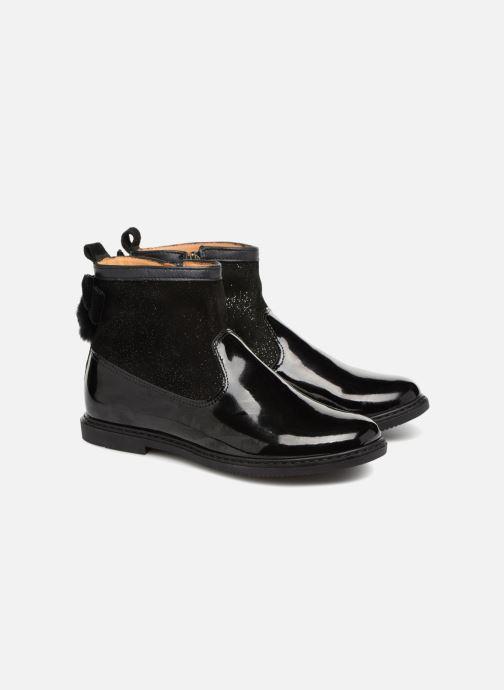 Bottines et boots Pom d Api City Knot Mink Noir vue 3/4