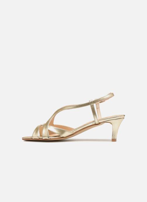 Sandales et nu-pieds Apologie 40460 Or et bronze vue face