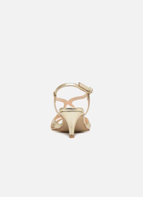 Sandales et nu-pieds Apologie 40460 Or et bronze vue droite