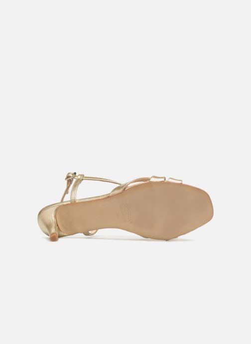 Sandales et nu-pieds Apologie 40460 Or et bronze vue haut
