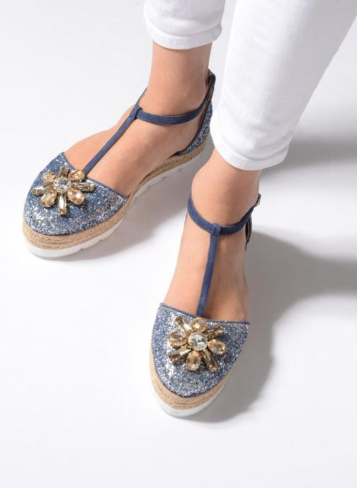 Espadrilles Apologie 40965 Blue view from underneath / model view