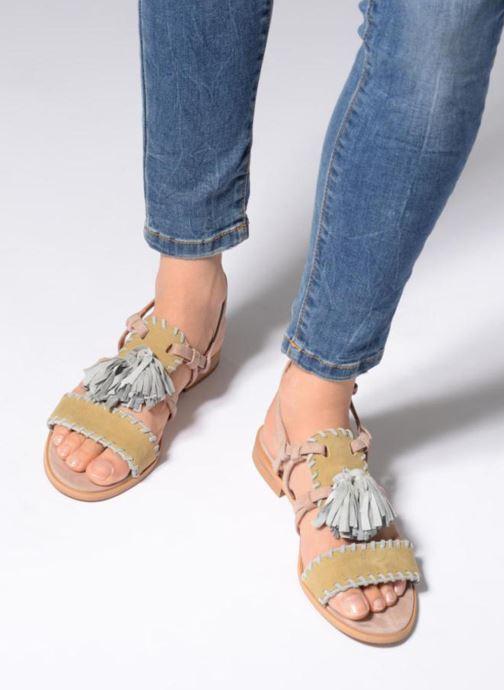Sandales et nu-pieds Apologie 55186 Multicolore vue bas / vue portée sac