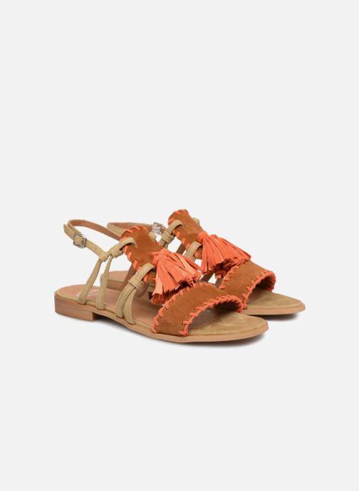 Sandales et nu-pieds Apologie 55186 Orange vue 3/4