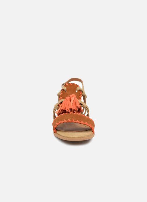 Sandales et nu-pieds Apologie 55186 Orange vue portées chaussures