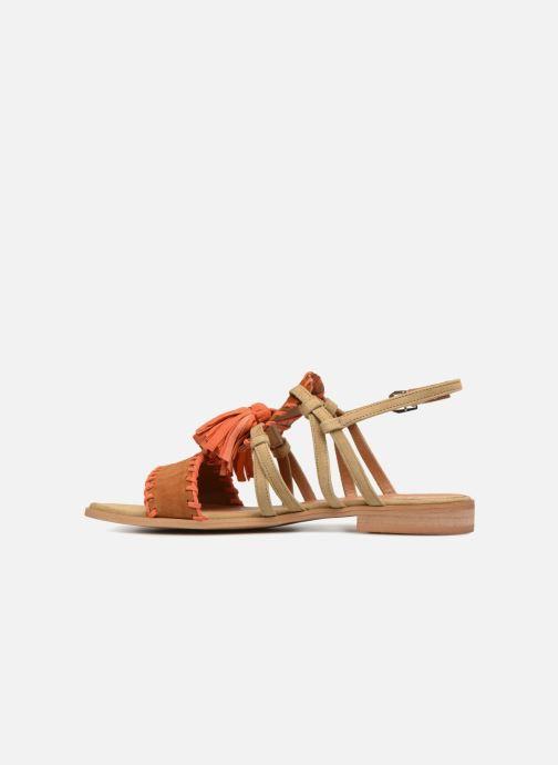 Sandales et nu-pieds Apologie 55186 Orange vue face