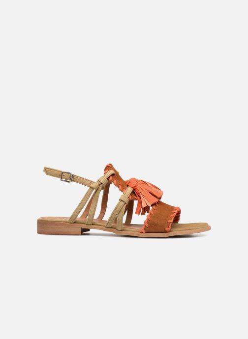 Sandales et nu-pieds Apologie 55186 Orange vue derrière