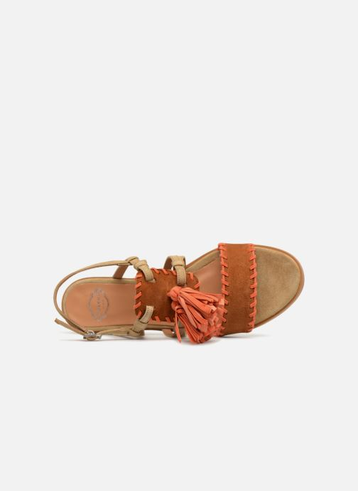 Sandales et nu-pieds Apologie 55186 Orange vue gauche