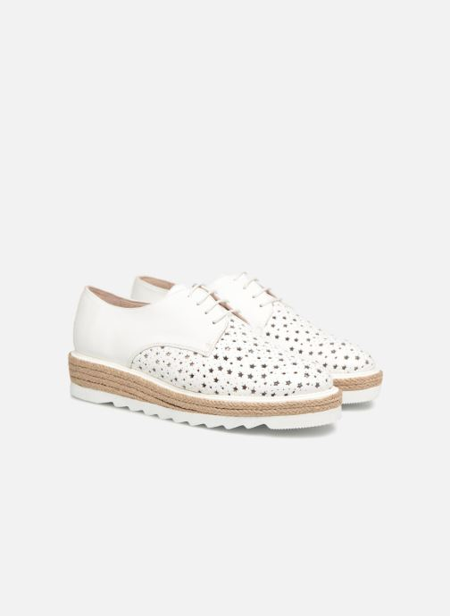 Lace-up shoes Apologie 70156 White 3/4 view