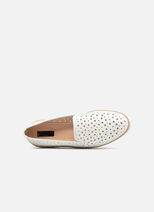 Mocasines Apologie 70158 Blanco vista lateral izquierda