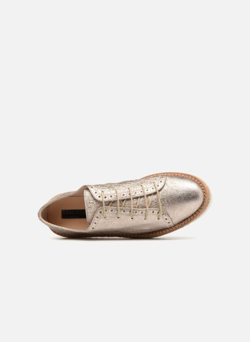 Zapatos con cordones Apologie 70579 Rosa vista lateral izquierda