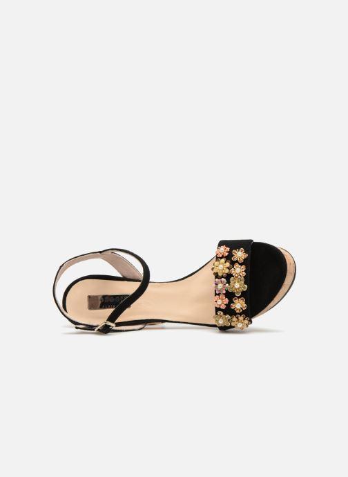 Sandales et nu-pieds Apologie 70597 Noir vue gauche