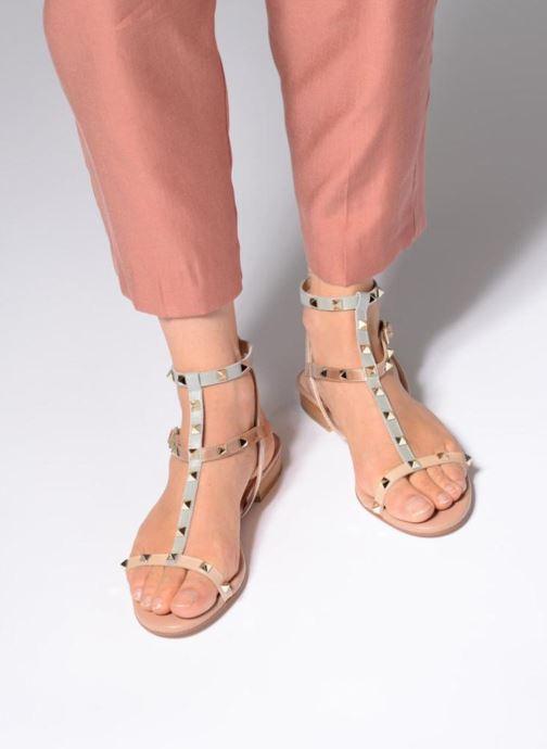 Sandales et nu-pieds Apologie 70850 Multicolore vue bas / vue portée sac