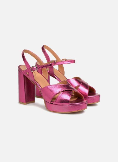 Sandales et nu-pieds Apologie CRUCE Rose vue 3/4