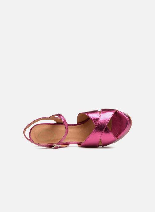 Sandales et nu-pieds Apologie CRUCE Rose vue gauche