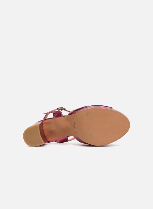 Sandales et nu-pieds Apologie CRUCE Rose vue haut