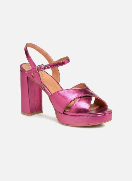 Sandales et nu-pieds Apologie CRUCE Rose vue détail/paire