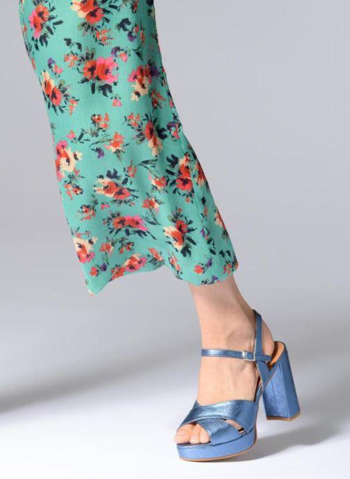 Sandales et nu-pieds Apologie CRUCE Bleu vue bas / vue portée sac