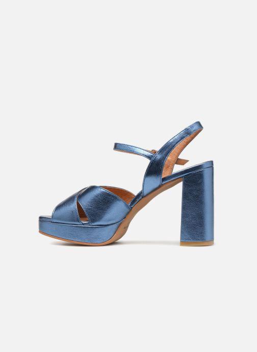 Sandales et nu-pieds Apologie CRUCE Bleu vue face