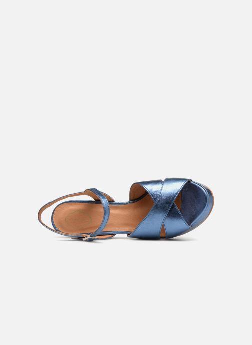 Sandales et nu-pieds Apologie CRUCE Bleu vue gauche